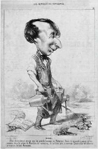 Alexandre Bixio in una vignetta di Honoré Daumier