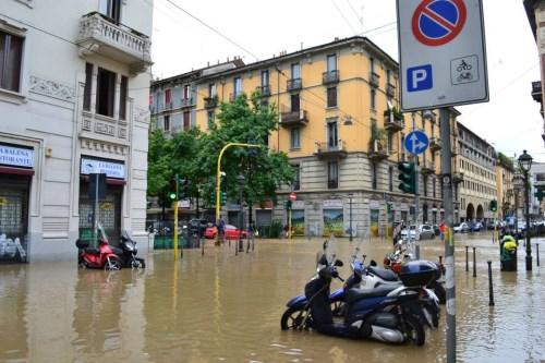 Milano inondata dal fiume Seveso