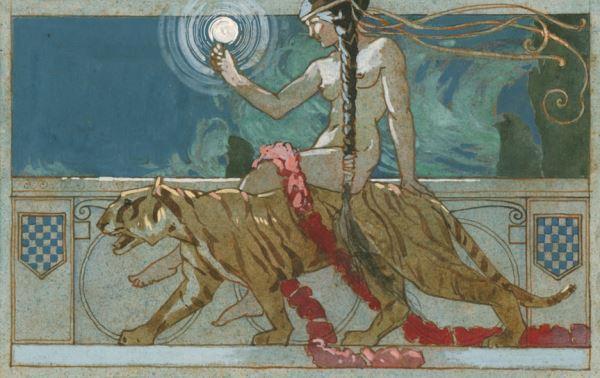 Donna con tigre, Casina dei Princicpi, Musei di villa Torlonia
