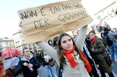 Giovani in protesta