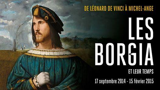 La locandina della mostra Les Borgia