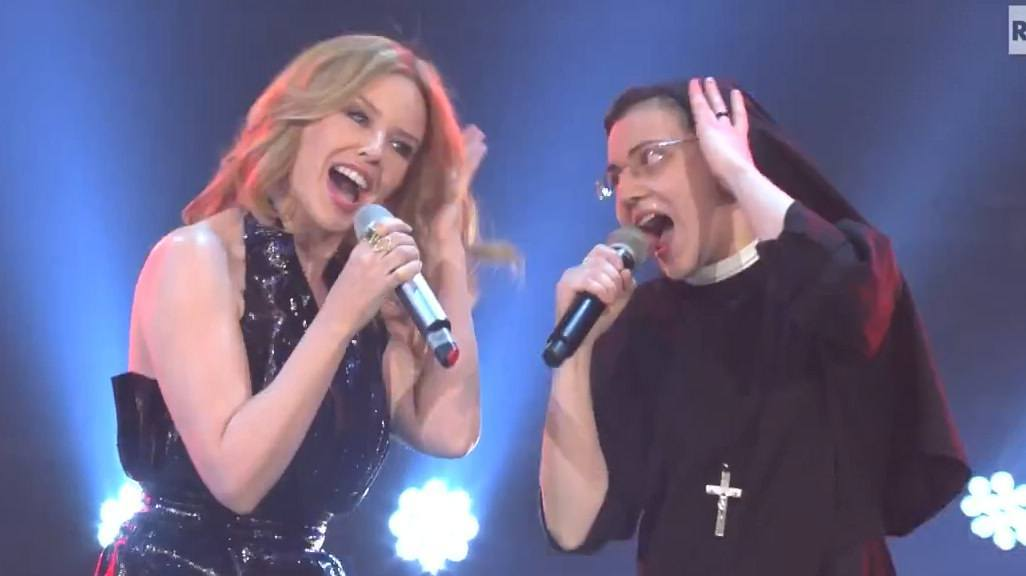 Suor Cristina e Killye Minogue