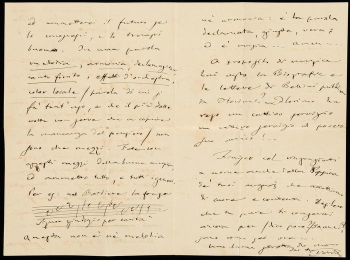 Le lettere di Giuseppe Verdi (foto: Ansa)